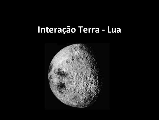 Interação Terra - Lua