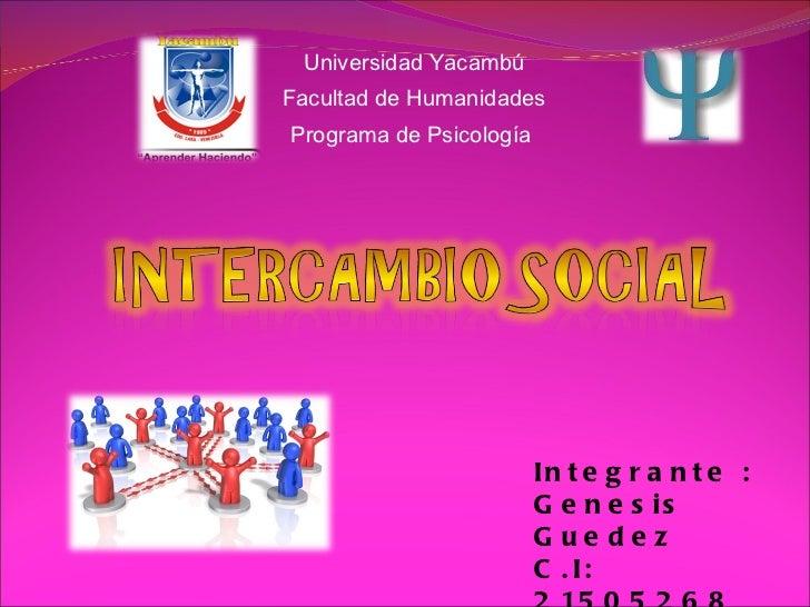 Universidad Yacambú Facultad de Humanidades Programa de Psicología  Integrante : Genesis Guedez  C.I: 21505268