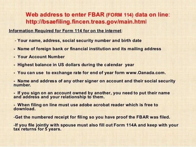 FBAR and US Taxes for Expatriates - Intercam Presentation , Ixtapa, M…