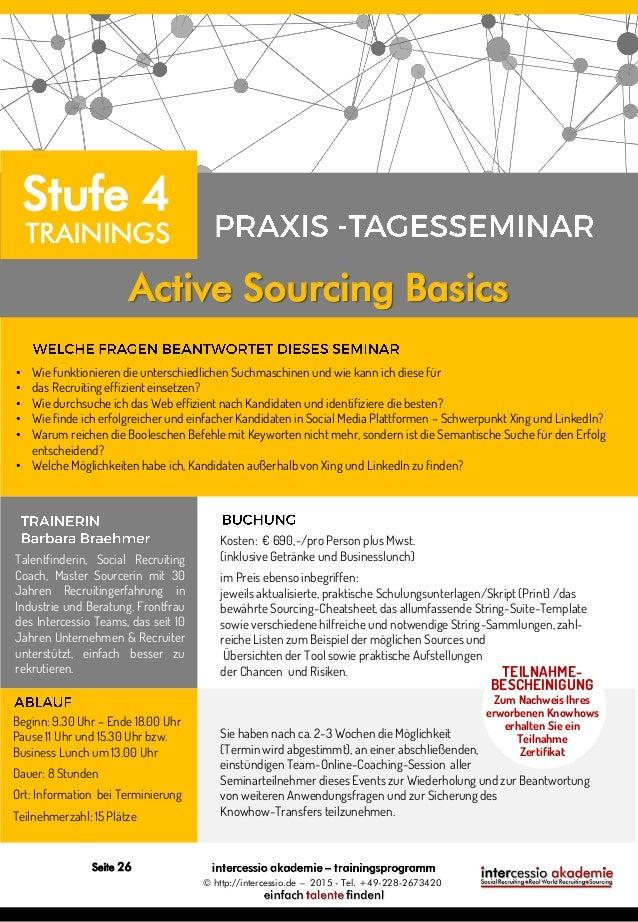 Intercessio Trainingsprogramm 2015 Social Recruiting Und Sourcing