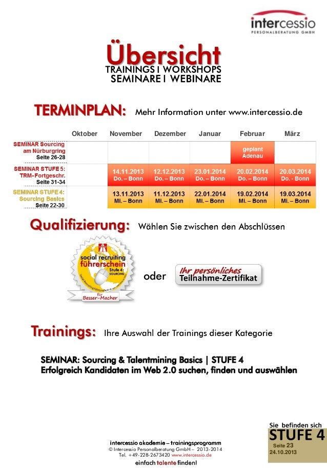 TERMINPLAN: Oktober  Mehr Information unter www.intercessio.de  November  Dezember  Januar  Februar  März  oder  SEMINAR: ...