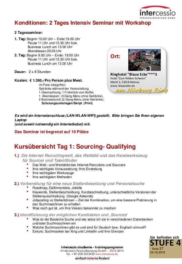 Konditionen: 2 Tages Intensiv Seminar mit Workshop 2 Tagesseminar: 1. Tag: Beginn 10.00 Uhr – Ende 19.00 Uhr Pause 11 Uhr ...