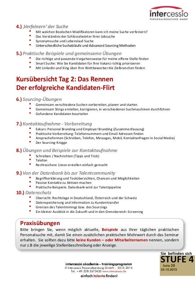 Social Recruiting - Talent Sourcing - Intercessio Seminar-Programm 20…