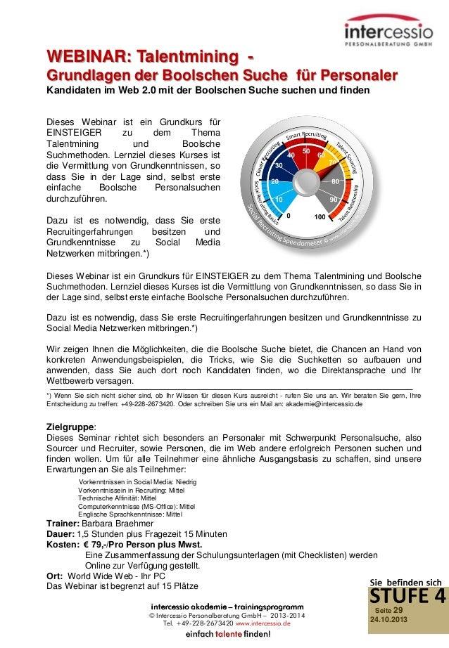 WEBINAR: Talentmining Grundlagen der Boolschen Suche für Personaler Kandidaten im Web 2.0 mit der Boolschen Suche suchen u...