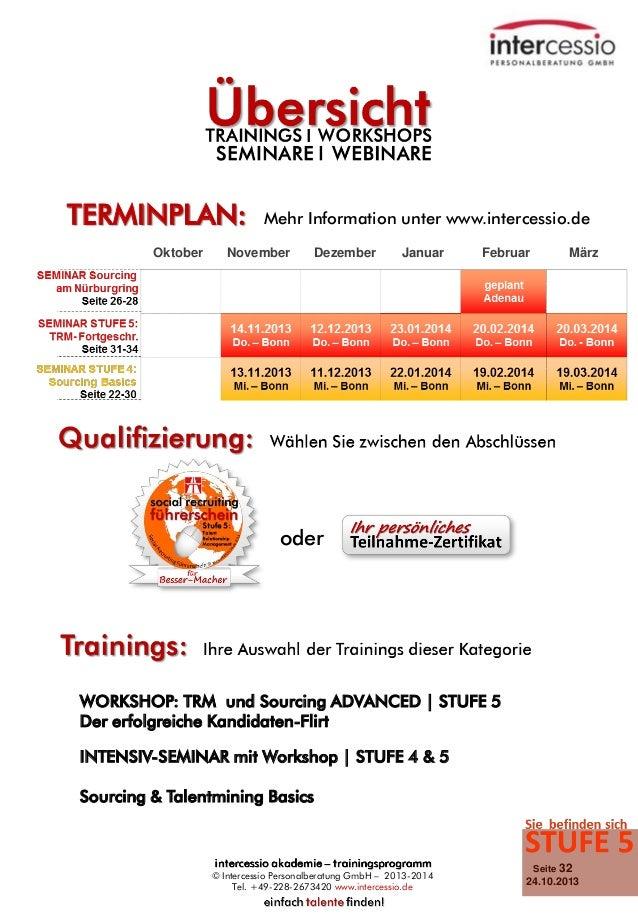 TERMINPLAN: Oktober  Mehr Information unter www.intercessio.de  November  Dezember  Januar  Februar  März  oder  WORKSHOP:...
