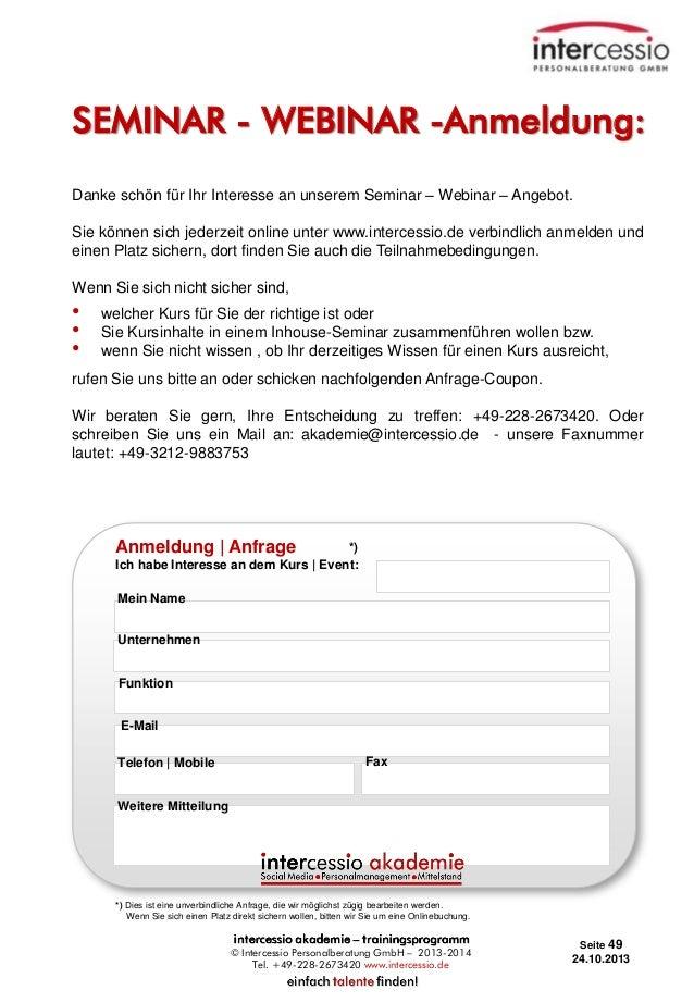SEMINAR - WEBINAR -Anmeldung: Danke schön für Ihr Interesse an unserem Seminar – Webinar – Angebot. Sie können sich jederz...
