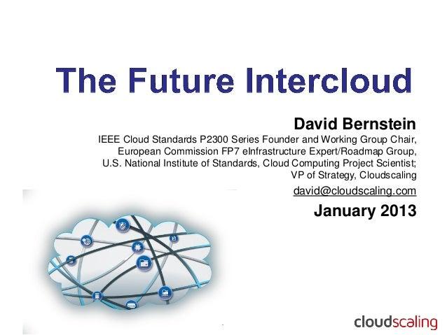 David BernsteinIEEE Cloud Standards P2300 Series Founder and Working Group Chair,    European Commission FP7 eInfrastructu...