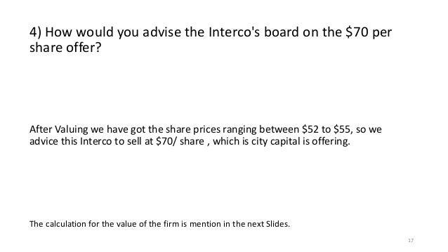 why is interco a target of a hostile takeover attempt give two reasons