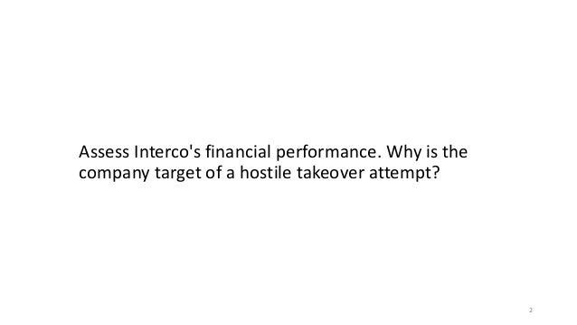interco case finance Corporate finance course outline 1 introduction in this course we will look at corporate long-term financing case: hbs 9-291-033, interco rwj: chapter 29 15 valuation of an m&a using multiples same material as previous session 16.