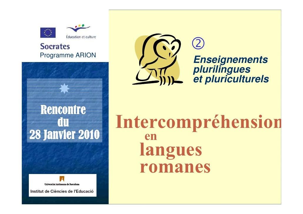 Programme ARION   Programme ARION                             Enseignements                             plurilingues      ...