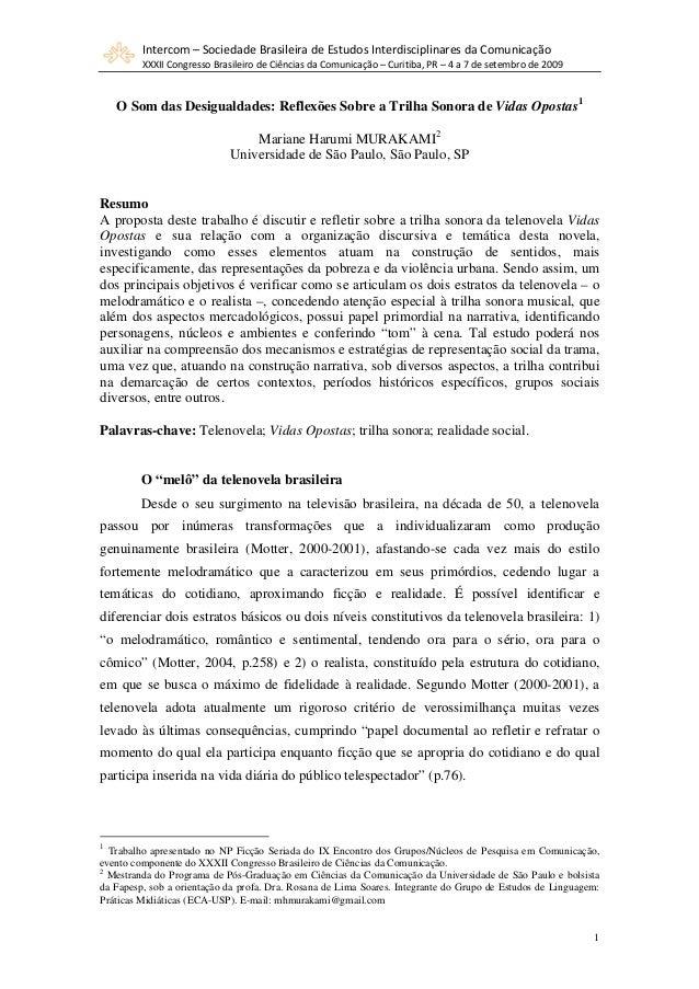 Intercom – Sociedade Brasileira de Estudos Interdisciplinares da Comunicação XXXII Congresso Brasileiro de Ciências da Com...