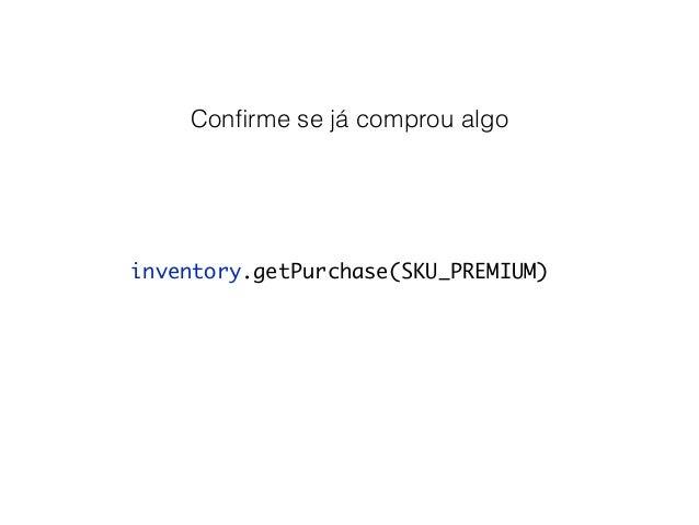 Consuma assim que comprar! Se for o caso  mHelper.consumeAsync(purchase, mConsumeFinishedListener);  IabHelper.OnConsumeFi...