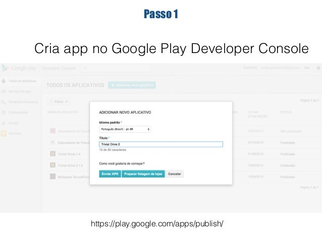 """Passo 2  Subir app assinada + base64EncodedPublicKey  <uses-permission android:name=""""com.android.vending.BILLING"""" />"""