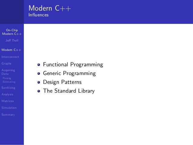 Analyzing On-Chip Interconnect with Modern C++ Slide 2