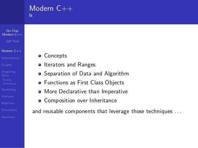 Analyzing On-Chip Interconnect with Modern C++ Slide 3