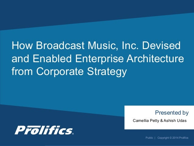CONNECT WITH US: How Broadcast Music, Inc. Devised and Enabled Enterprise Architecture from Corporate Strategy Presented b...