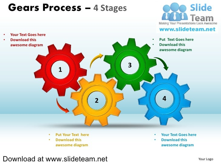 Interconnected gear pieces smart arts process 4 stages style 1 power powerpoint templates gears process 4 stages your text goes here download this toneelgroepblik Image collections