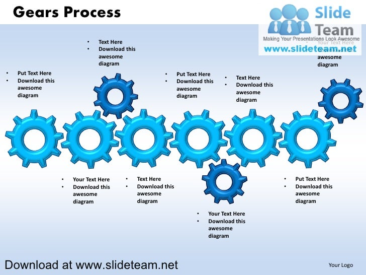 Gears Process                             •   Text Here                                                                   ...