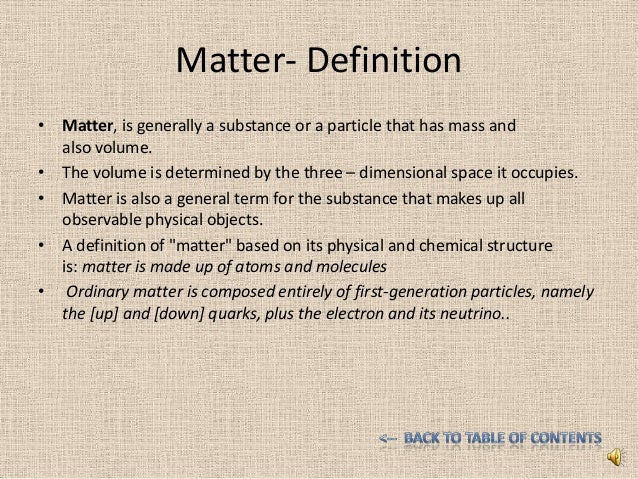 an introduction to the definition of matter 2012-2-8  self-publishing basics: how to organize your book's front matter includes a checklist of front  introduction—the author explains the purposes and the.