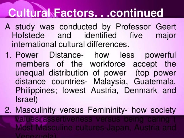 How intercountry differences affect Human Resource Management - Research Paper Example