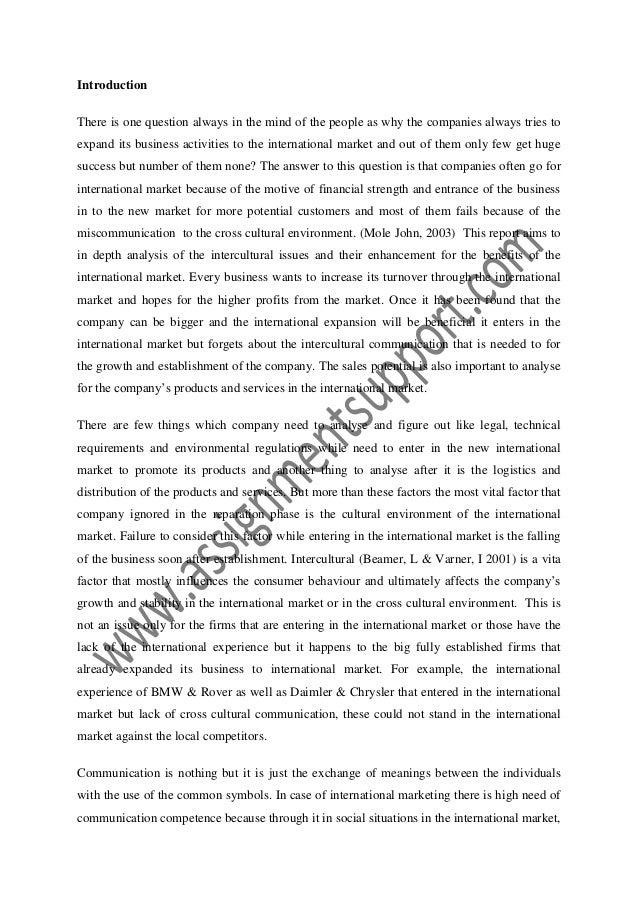 Effective intercultural communication essay