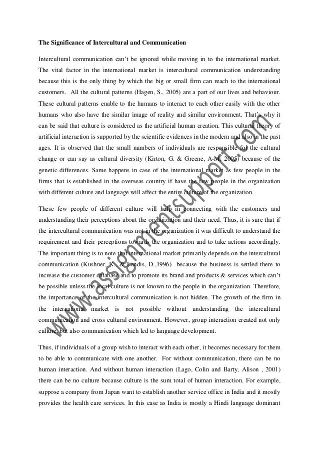problems in intercultural communication essay Intercultural communication is essential for intercultural communication and diplomacy is a collection of papers presented communication problems and.