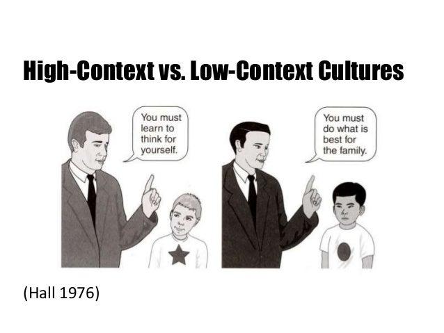 high low context cultures