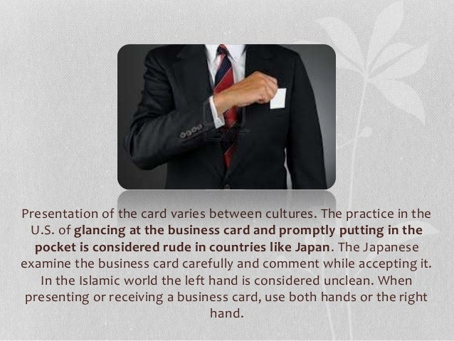Intercultural business etiquette and protocol 15 presentation of the card reheart Image collections