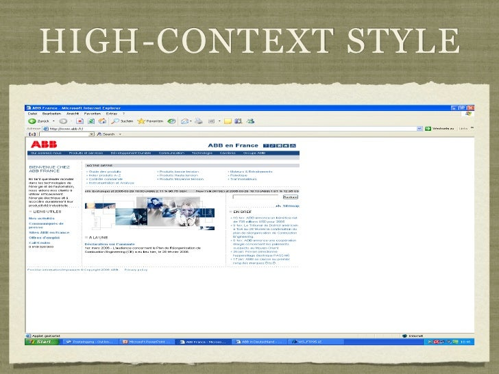 HIGH-CONTEXT STYLE