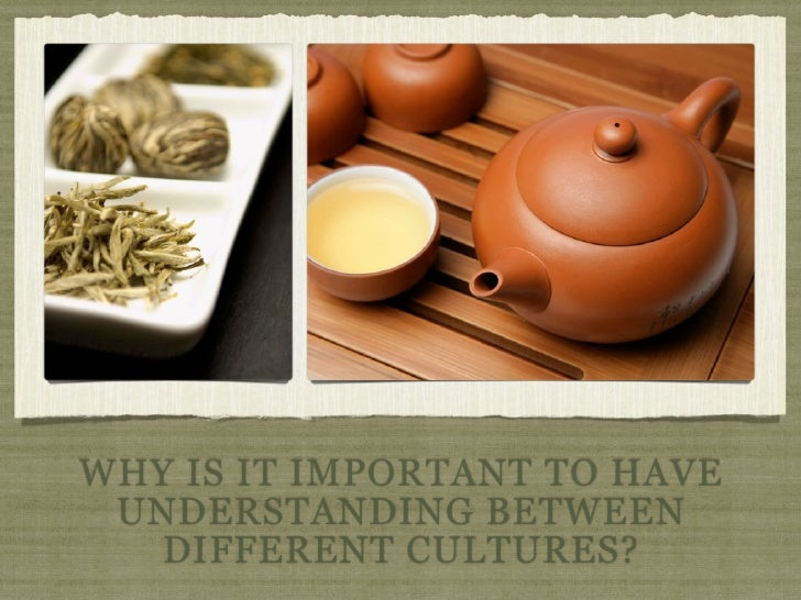 WHY IS IT IMPORTANT TO HAVE UNDERSTANDING BETWEEN   DIFFERENT CULTURES?