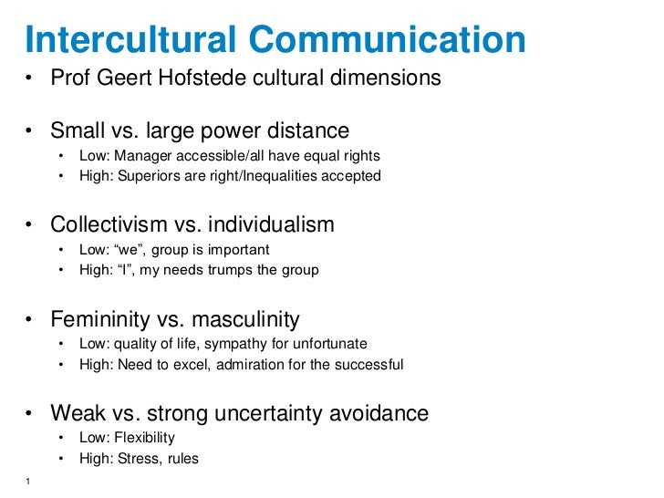 intercultural communication and power distance essay