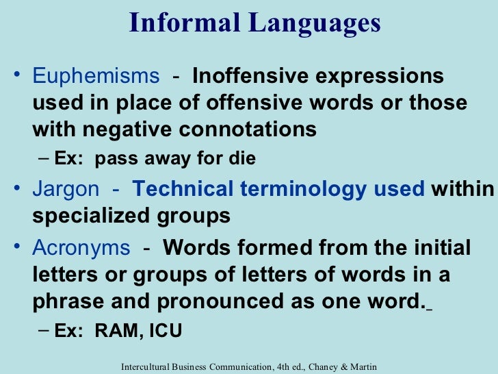 intercultural communications chapter 5  language