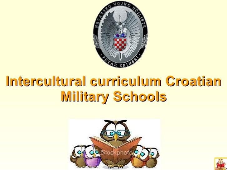 Intercultural curriculum Croatian Military Schools