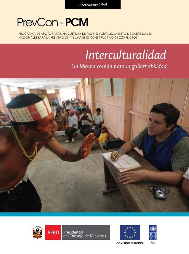 Programa de Apoyo para una Cultura de Paz y el fortalecimiento de capacidadesnacionales para la Prevención y el manejo con...