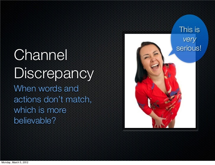 This is                                  very                                serious!         Channel         Discrepancy ...