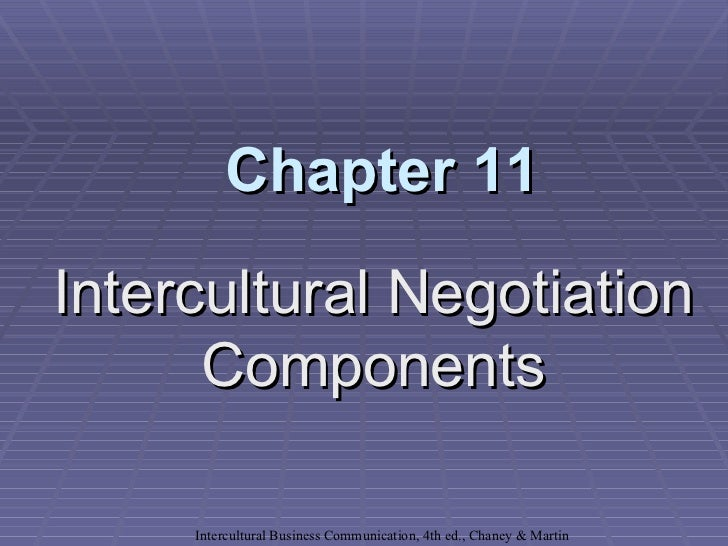 Chapter 11Intercultural Negotiation      Components     Intercultural Business Communication, 4th ed., Chaney & Martin