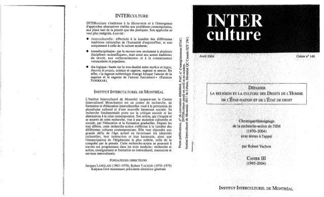 Interculture 4 depasser la religion et la culture des droits de l'homme, de l'état nation et de l'état de droit,c3