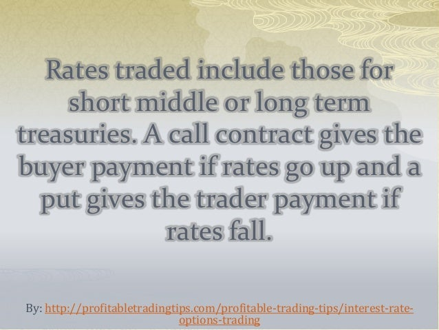 Interest rate options trading