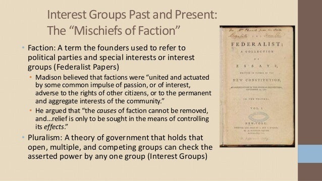 effects of special interest groups in Identify factors which control and prevent interest groups from having a negative   do not give preferential treatment for specific interest groups.