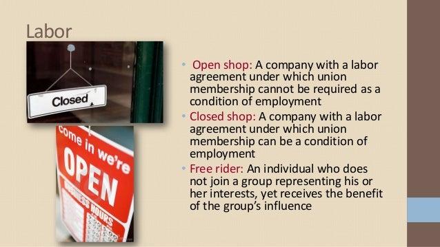 Interest groups 8 labor open shop platinumwayz