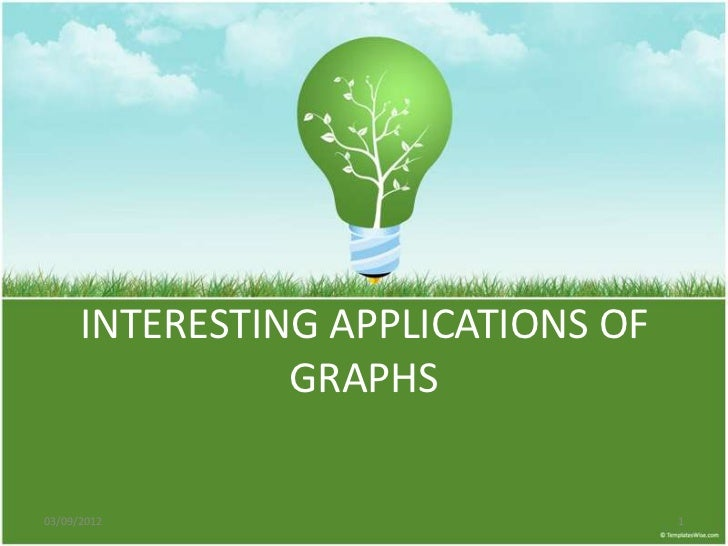 INTERESTING APPLICATIONS OF                GRAPHS03/09/2012                          1