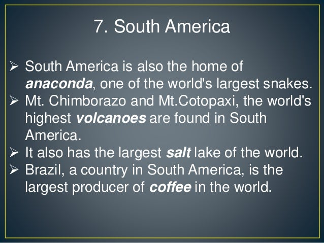 Interesting Facts About Continents on The Seven Continents Ppt Presentation
