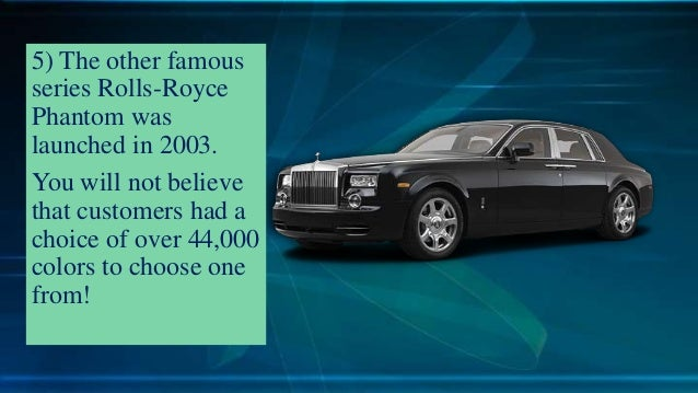 Interesting Facts to Know about Rolls – Royce Cars