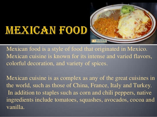 Mexican Cousin Food