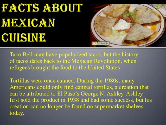 Mexican Food Tacos Facts
