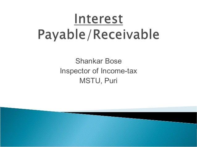 Shankar BoseInspector of Income-taxMSTU, Puri