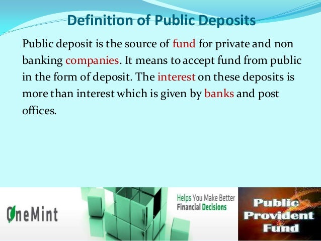 Main features of Public DepositsCeiling on Deposits-a) Company can accept public deposits up to the 25% of  the total of ...