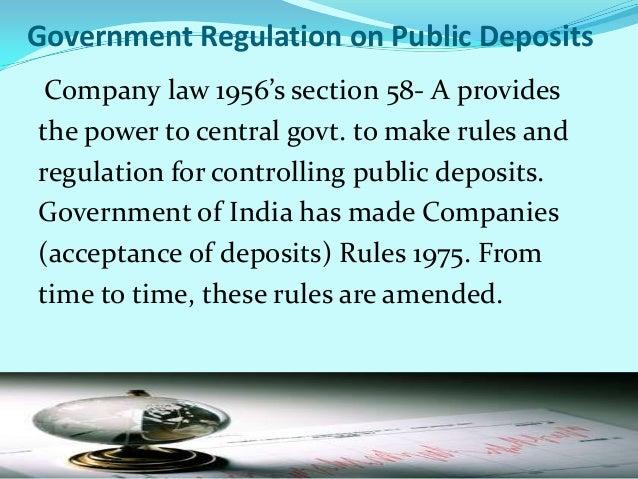 Register of DepositsLike register of shareholder and debenture holder, companyshould record all persons' name, address, d...