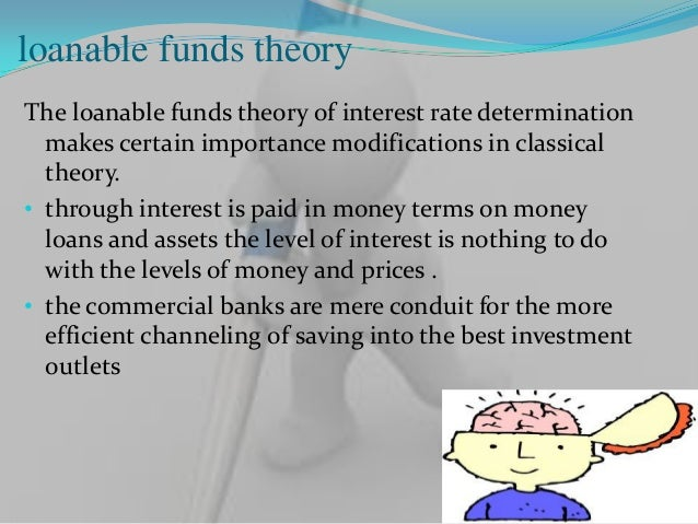 loanable funds theoryThe loanable funds theory of interest rate determination  makes certain importance modifications in c...
