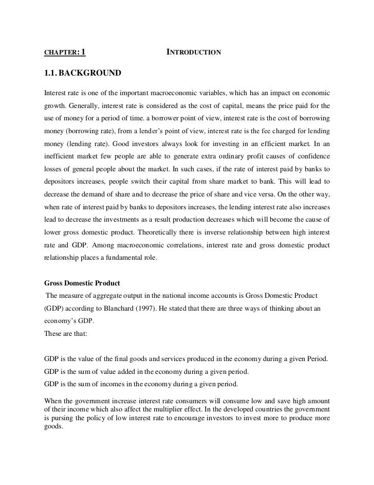 chapter: 1                                                Introduction<br />1.1. BACKGROUND<br />Interest rate is one of t...